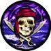 Pirate Skull w Ship Ball Viz-A-Ball