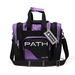Path Single Deluxe Tote Black/Purple