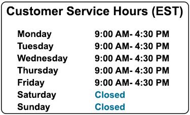 Customer Service Hours